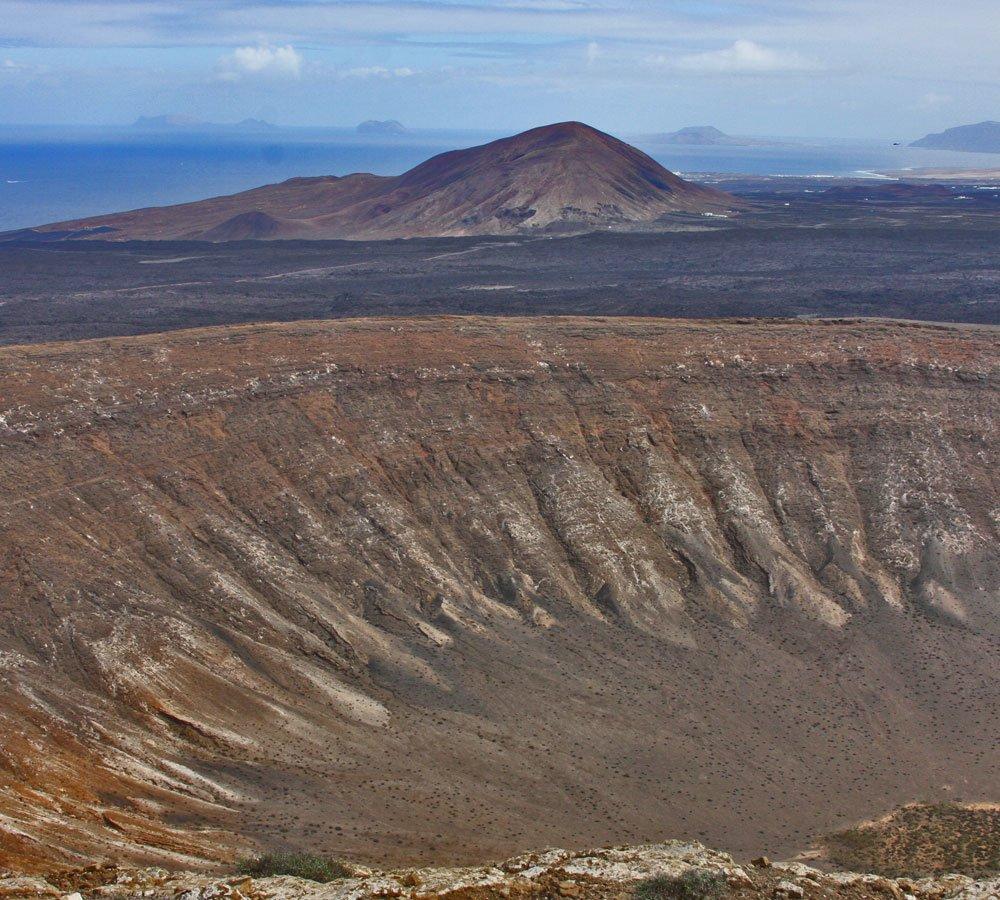 volcanic crater lanzarote